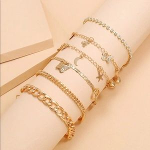 Gold ankle jewelry